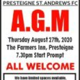 A reminder that Presteigne St Andrews Football Club is to hold its Annual General Meeting this evening – Thursday, 27 August 2020. The meeting will take place at The Farmers […]