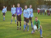 Dave Exhall gathers the ball during the first league meeting between the sides