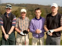 The winning team at the Golf Day