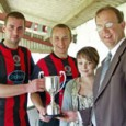 Knighton Town are through to the final of the Alfred Sparey Cup final after they overcame Newcastle in their semi-final tie at Llanandras Park on Sunday 24 April. Knighton were...