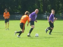 Chris Ammonds in action against Builth Wednesdays
